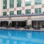 pool was nice. staff very attentive. prepared sliced apples and iced water when i was done with