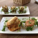 Crab and Prawn Stack and Stuffed Figs