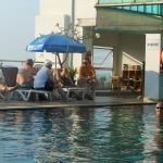 The better of the two pools with swim-up bar