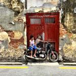 This is the popular street art you can find in the Armenian Street area in downtown Penang. Well