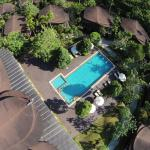 The pool from the air photographed with my DJI Phantom drone.