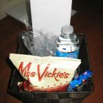 Gift basket in room upon arrival