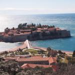 Sveti Stefan from the Highway Above