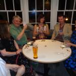 Some of us playing cards on the Saturday night