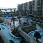 view from my balcony and lazy river