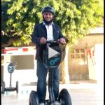 In Miami I tried to drive a segway but i hesitated but today thanks to the good instructor i bro