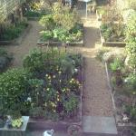 Lovely cottage garden also seen from bedroom window South facing