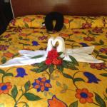 If you tip the maid you get lovely bed arrangements!