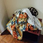 This is how the housekeeper left our room. Blankets just bunched up and sitting there.