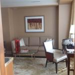 Living area in mini king suite