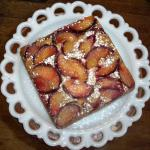 Plum nutmeg coffee cake