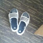 the nasty sandles we found under our bed...they ARENT ours