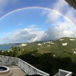 Beautiful rainbow out of our window!