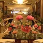 The elegant floral displays