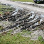 Typical mud condition in front of site
