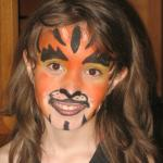 Face Painting for the kids.  Ahhh! Scary!
