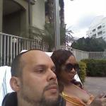 the wifey and I poolside