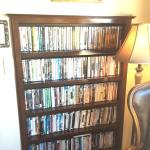 DVDs in lobby