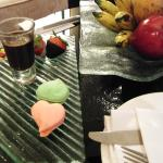Free welcome fruit platter and sweets
