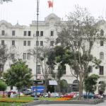 View of the hotel from Plaza San Martín