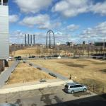 A view from room 322 in March.  I am sure it looks better with green grass...  but the sky was b