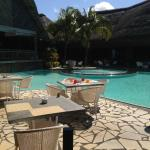 Pool by the estaurant