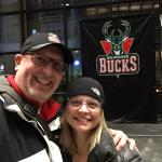 Getting ready to go in and enjoy a great Bucks game.