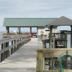 Pier with covered deck