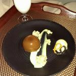 Ordered Room Service Dessert: Chocolate mousse with pralines and pretzel ice cream