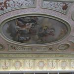 part of painted ceiling