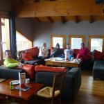 Coffee and cakes in the top floor bar after a sunny day's skiing.