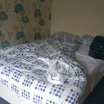 The bed - they used 2 single sheets on a double bed - it was old too.
