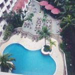 The pool view from my room (955)