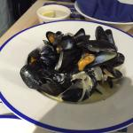 Main course mussels.