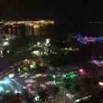 View from our floor onto Ultra Music Festival