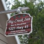 Yosemite Big Creek Inn Sign - Highway 41