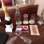 Bubbly and voucher for shopping and massage ...