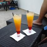 Delicious drinks by the pool!