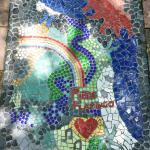 Mosaic on path