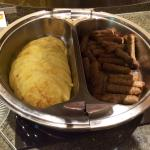 Egg discs & sausage, March 2015
