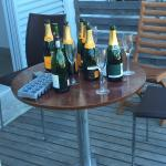 These bottles stayed on the adjoining deck for 2 days after an all night party
