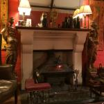 The magnificent fire place in the snug area