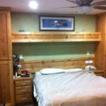 Comfy beds in custom maple wall units