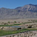 View of the mountain and driving range