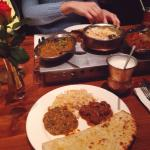 Tarka dal, rogan josh and peshawari naan. All of them, absolutely delicious, the best i've ever