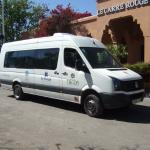 The free shuttle bus 7 times (return) each day into Marrakech