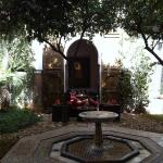 The central courtyard fountain, great place to relax at the end of a day exploring.