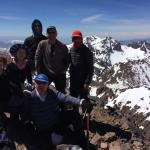 The summit of Toubkal, Africa's second highest mountain - a trip organised for us by Kasbah Ango