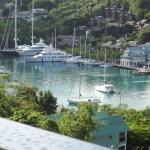 view from balcony of Marigot bay