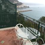 view of Amalfi from balcony